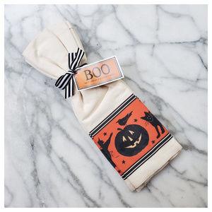Mary Lake-Thompson Boo Halloween Flour Sack Towels